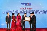 Thư cảm ơn của Báo VietnamPlus nhân đón Huân chương Lao động hạng Nhì