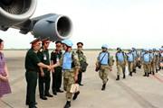 Hai sỹ quan lên đường làm nhiệm vụ gìn giữ hòa bình tại Nam Sudan