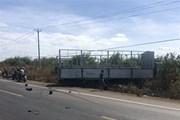 Gia Lai: Xe tải mất lái đâm vào xe máy, 3 cô cháu tử vong