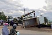 Quảng Trị: Xe container va chạm với xe máy, 2 người chết tại chỗ