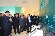 Hình ảnh đoàn Triều Tiên đến thăm Tổ hợp nghiên cứu của Viettel