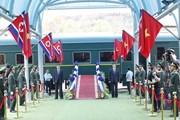Không khí tại ga Đồng Đăng trước giờ tiễn Chủ tịch Triều Tiên Kim Jong