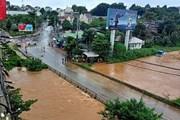 Hình ảnh mưa lũ gây ngập lụt tại nhiều địa phương ở tỉnh Đắk Nông