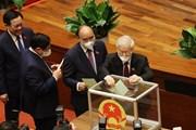 Hình ảnh Quốc hội bỏ phiếu bầu Chủ tịch Quốc hội khóa XV