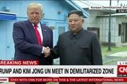 Hình ảnh đầu tiên về cuộc gặp giữa ông Trump và ông Kim tại DMZ
