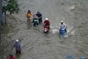 Hình ảnh nhiều tuyến phố ở Thành phố Hồ Chí Minh ngập sâu