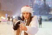 [Photo] Người dân Moskva háo hức đón trận bão tuyết đầu mùa