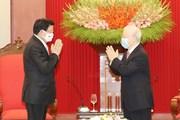[Photo] Lãnh đạo Việt Nam tiếp Thủ tướng Lào Thongloun Sisoulith