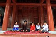 [Photo] Ca trù Đông Môn, cái nôi nhịp phách trống chầu