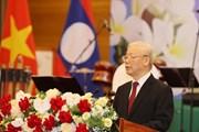 [Photo] Chiêu đãi trọng thể chào mừng Tổng Bí thư, Chủ tịch nước Lào