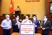 Đại biểu Quốc hội quyên góp ủng hộ Quỹ phòng, chống dịch COVID-19