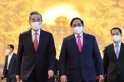 [Photo] Thủ tướng Phạm Minh Chính tiếp Bộ trưởng Ngoại giao Trung Quốc