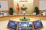 Hình ảnh Thủ tướng chủ trì họp trực tuyến toàn quốc về chống dịch