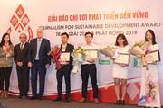 VietnamPlus giành giải B báo chí với phát triển bền vững 2018