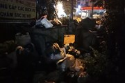 Chặn xe tại khu xử lý chất thải Nam Sơn khiến hầm chung cư 'ngập rác'