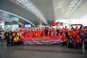 Cổ động viên ''tiếp lửa'' U22 Việt Nam đá chung kết SEA Games 30