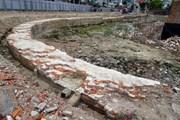 Hình ảnh phát lộ tường hào, nền móng ở Di tích Thành Điện Hải, Đà Nẵng