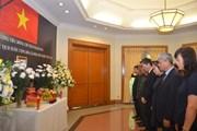 Lễ viếng và mở Sổ tang Chủ tịch nước Trần Đại Quang tại Indonesia