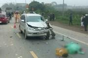 Ôtô lấn làn đâm trực diện, 2 người đi xe máy tử vong tại chỗ