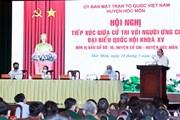Chủ tịch nước tiếp xúc cử tri, thăm cán bộ chiến sỹ Sư đoàn 317