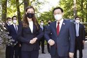 [Photo] Chủ tịch Quốc hội Vương Đình Huệ hội kiến Thủ tướng Phần Lan