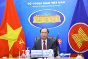 [Photo] Hội nghị trực tuyến các Quan chức cao cấp SOM ASEAN