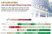 [Infographics] Lãi suất cơ bản của một số ngân hàng trung ương