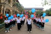 Thiếu nhi Việt tại Lào tìm hiểu nét đẹp văn hóa Tết Trung thu