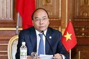 Thủ tướng dự họp báo chung kết quả Hội nghị Mekong-Nhật Bản