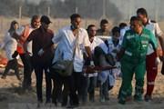 32 người Palestines bị thương trong cuộc biểu tình tại bờ biển Gaza
