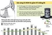 [Infographics] Giá xăng E5 RON 92 giảm 973 đồng mỗi lít