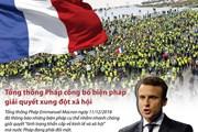 [Infographics] Tổng thống Pháp công bố cách giải quyết xung đột xã hội