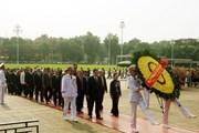 [Photo] Đoàn đại biểu MTTQ Việt Nam vào lăng viếng Bác Hồ