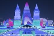[Photo] Công viên băng tuyết lớn nhất Trung Quốc mở cửa đón du khách