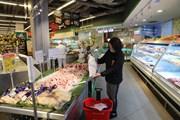 [Photo] Không có hiện tượng người dân đổ xô mua thực phẩm tích trữ