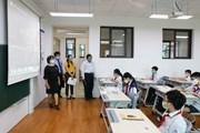 [Photo] Hà Nội: Kiểm tra phòng, chống dịch COVID-19 tại các trường học