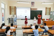 [Photo] Hà Nội: Đảm bảo an toàn chống dịch cho trẻ khi đến trường