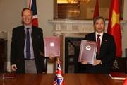[Photo] Lễ ký Hiệp định thương mại tự do Việt Nam-Vương quốc Anh