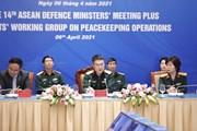 [Photo] Hội nghị trực tuyến Nhóm chuyên gia gìn giữ hòa bình