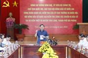 Chủ tịch QH Vương Đình Huệ kiểm tra việc chuẩn bị bầu cử ở Hải Phòng