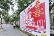 [Photo] Hà Nội tuyên truyền chào mừng bầu cử đại biểu Quốc hội