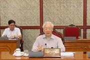 Tổng Bí thư chủ trì họp Bộ Chính trị họp về tình hình phòng chống dịch