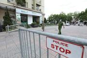 [Photo] Hà Nội phong tỏa tạm thời tòa N03A thuộc khu đô thị Sài Đồng
