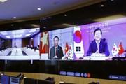 Chủ tịch QH Vương Đình Huệ hội đàm với Chủ tịch Quốc hội Hàn Quốc