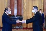 Chủ tịch nước tiếp Đại sứ của bốn nước đến trình Quốc thư