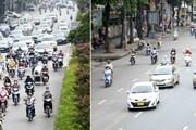 Lưu lượng tham gia giao thông ở nhiều tuyến phố của Hà Nội đã giảm