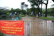[Photo] Hà Nội: Hồ Tây không còn người đi tập thể dục