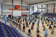 [Photo] Phú Yên xuyên đêm đưa 400 công dân từ vùng dịch về quê