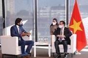 Chủ tịch QH Vương Đình Huệ tiếp đại diện một số tập đoàn của Áo