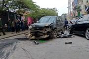 """Hà Nội: """"Xe điên'' gây tai nạn liên hoàn một phụ nữ tử vong thương tâm"""